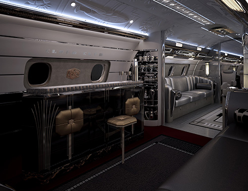 Bar space on Hollywood Airship