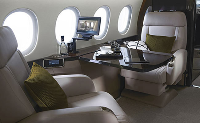 Technology on private jet